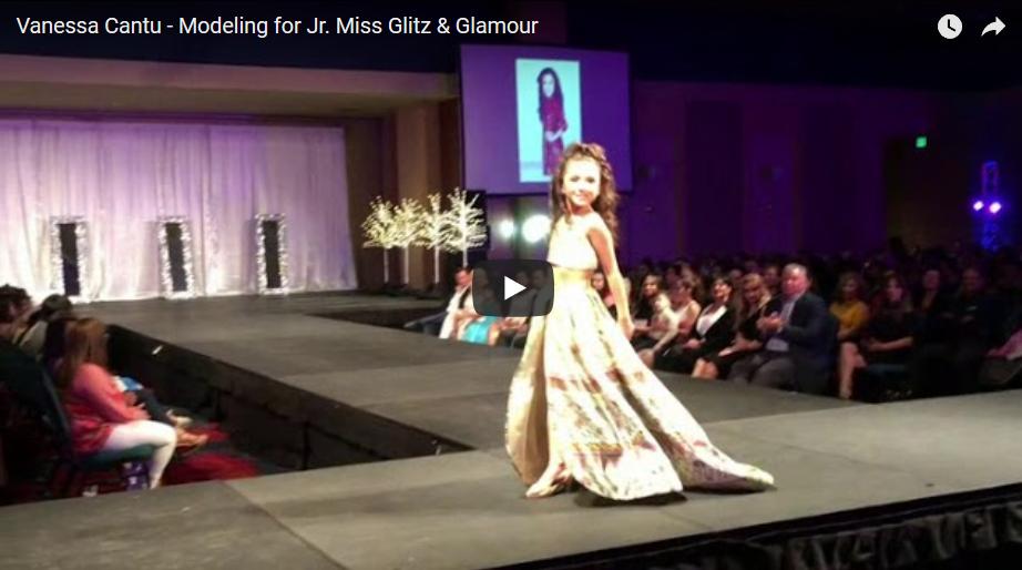 Vanessa Cantu - Modeling for Jr. Miss Glitz & Glamour