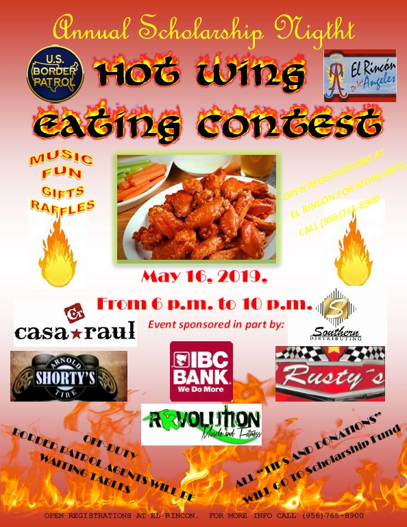 Zapata, TX - Hot Wing Eating Contest Event